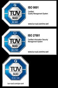 medavis ISO certificates